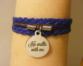 Christian bracelet, Christian jewelry, he walks with me bracelet, he walks with me jewelry, fashion bracelet, fashion jewelry, religious