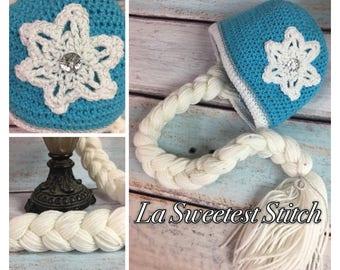 Elsa Crochet Wig Hat