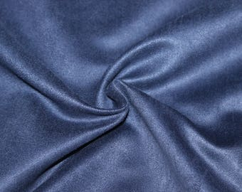 Fabric suede Royal Blue, 100% polyester 50 cm x 150 cm