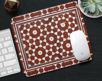 Persian Rug Mouse Pad Red Rug Mouse Mat Geometric MousePad Desk Accessories Mouse Pad Tile Mouse Mat Persian Carpet Mouse Pad Office Gift