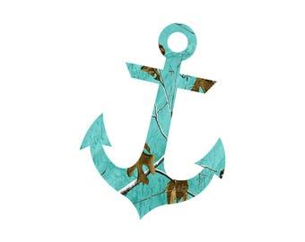 Anchor Teal Camo decal