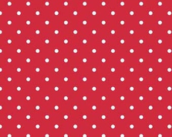 Red Swiss Dots by Riley Blake