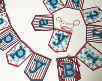 Airplane Happy Birthday Banner Airplane Banner Birthday Banner Boys Birthday Custom Birthday Banner Airplane Party Birthday party decor