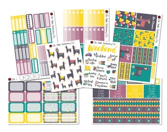 Planner Stickers Llama Drama Weekly Kit - Erin Condren Life Planners