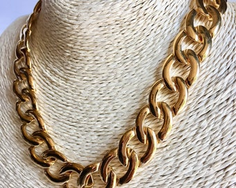Vintage Napier Goldtone Chain Link Necklace