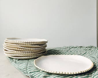 Scalloped Edge Dessert Plates