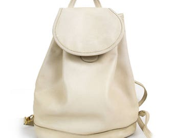 Bag clear beige grained leather LONGCHAMP 3 positions