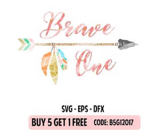 Boho birthday  SVG - Brave one svg - Boho feathers - arrow svg- Wild one svg - Wild svg - Cut File - Silhouette- Cricut - Digital Download
