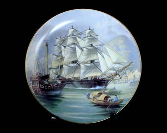 1981 Collectible Plate, Sea-Witch, The Great Clipper Ships Collection, Limited Edition, Decorative Plate, Wall Decor,  Franklin Mint
