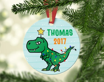 Dinosaur Christmas Ornament