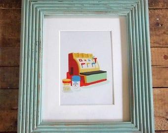 Barnwood photo frames – Turquoise