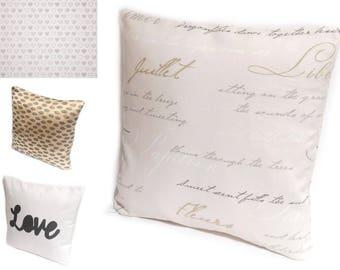 4 patterns // Leopard print, Script Cushion, Love Throw Pillow, Heart Pillow Case