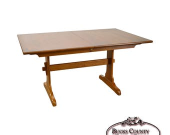 Hitchcock Solid Maple Stenciled Trestle Dining Table