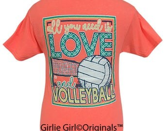 Girlie Girl Originals All You Need Is Love & Volleyball Short Sleeve T-Shirt