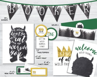 where the wild things are party printables, where the wild things are baby, wild things are party supplies, wild things birthday