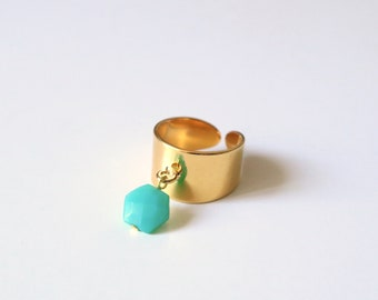 CATELLA Amazonite ring