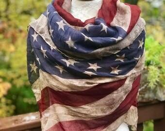 American flag scarf Etsy