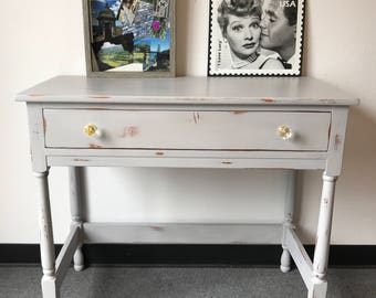 Beautiful Antique Vanity Table/Side Table/Entry Table/Accent Table/Vanity/Chalk Paint/Distressed