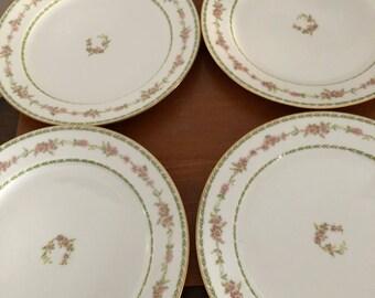 Chas Field Haviland laurel 4 dinner plates