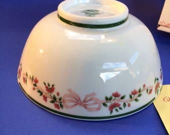 Princess House Vintage Christmas Centerpiece Porcelain Bowl NIB