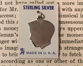 Vintage 1950s Sterling Silver Silhouette Charms - 4 Pieces