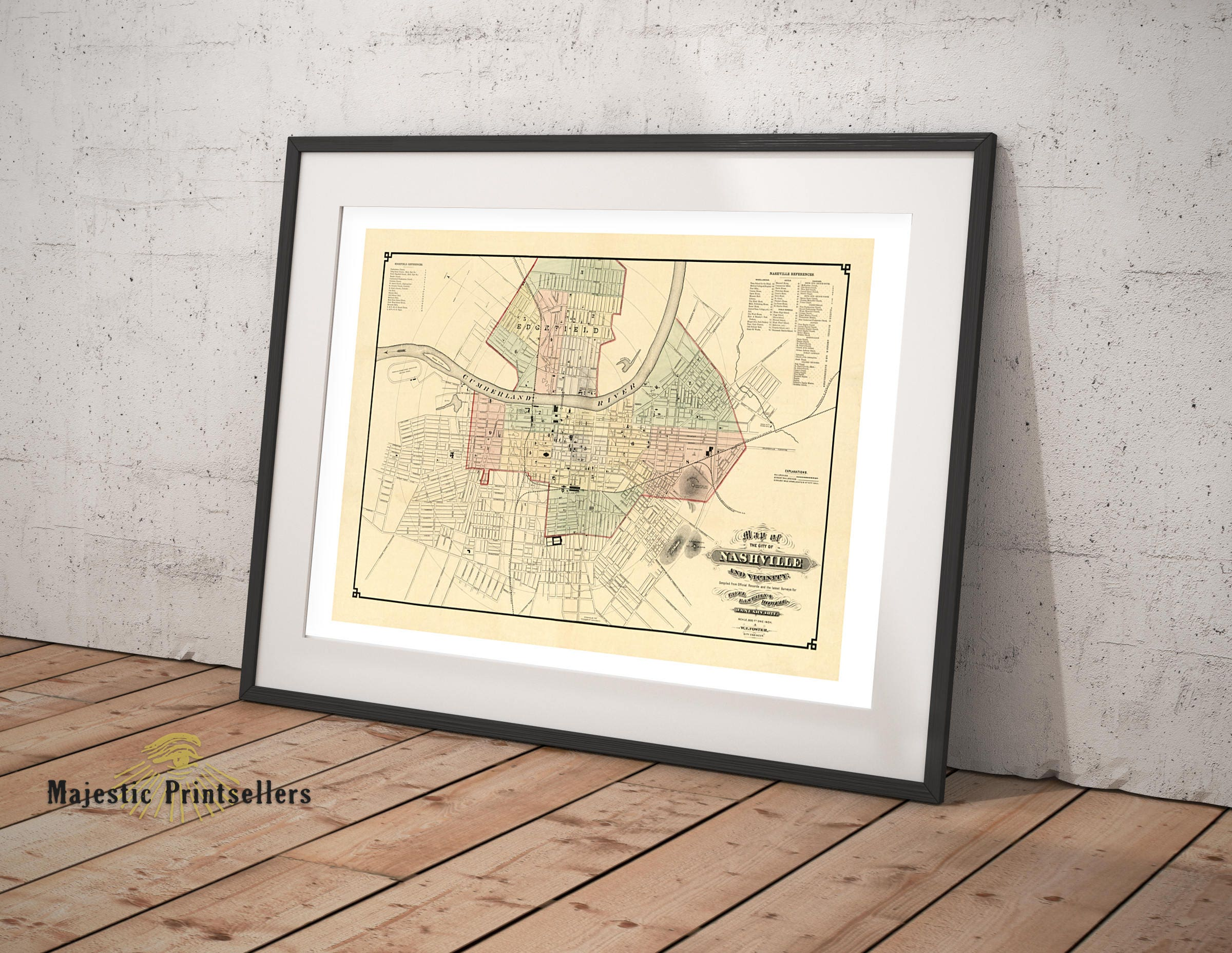 Map of the city of nashville tennessee southern wall decor gallery photo gallery photo gallery photo gallery photo gallery photo amipublicfo Images