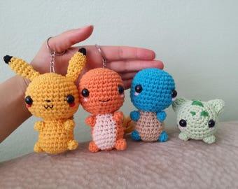 Charmander, Bulbasaur, Squirtle, Pikachu, Pokemon