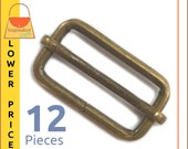 "1.25 Inch Moving Bar Purse Strap Slides, Antique Brass / Bronze Finish, 12 Pieces, 1-1/4"", 1-1/4 Inch, Handbag Purse Hardware, BKS-AA055"