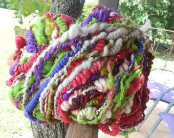 """Zip"" ""Merino, silk, mohair handspun yarn"