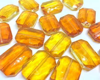 34mm Glass Crystal in orange crystal, faceted crystals for jewelry creation, bangle making, glass beads, bangle beads, orange bracelet beads