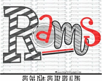 Rams SVG, Cut file, Cheer svg, School spirit, socuteappliques, SvG Sayings, football svg, football sister svg, football mom svg