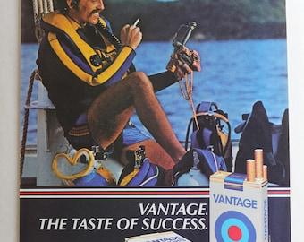 Vantage Cigarettes vintage 1983 ad