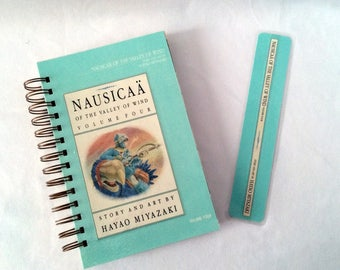 Nausicaa Of The Valley Of Wind Recycled Manga Notebook And Sketchbook, Weeaboo, Otaku, Unique Manga Notebook, Studio Ghibli, Japanese Anime