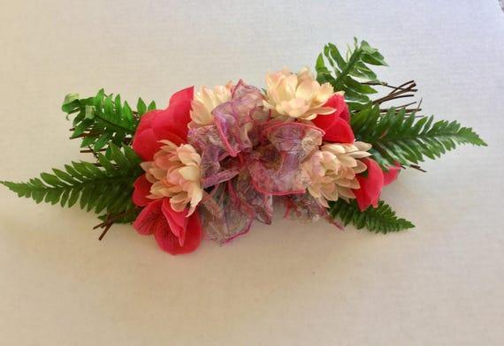 Cemetery flowers, Grave flowers, Roadside Memorial, Grave Marker, Floral Memorial