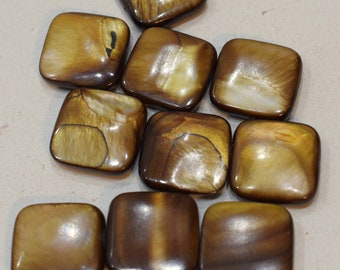 Beads Capiz Gold Shell Square Beads Necklaces Shell Beads 20mm