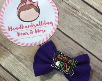 Halloween party bow