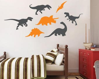 Dinosaur Wall Decal Etsy - Custom vinyl wall decals dinosaur