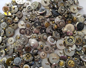 6  Bronze Colour - Silver Colored -Sewing Buttons - #MB-00013