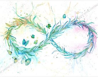 This eight, infinity - symbol - 29, 7 x 21 cm fine art print - art print