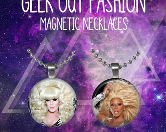 RuPaul and Lady Bunny Best Friend Necklaces