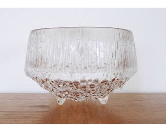 "iittala Ultima Thule 6"" Crystal Bowl - Designer Tapio Wirkkala - Made in Finland - 2 Available"