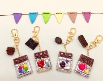 Chocolate Bar Charm Keyrings