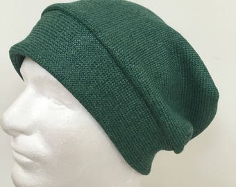 Men's Green Slouchy Hat. Green Beanie Hats. St Patricks Day gift.