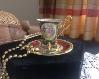 SOLD....SOLD....TRANG...Beautiful cabinet cup and saucer . Fragonard. Vienna. Bavarian.