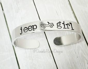 Jeep cuff • Jeep jewelry • Jeep Life • Jeep Hair Don't Care • Sweet 16 gift • Jeep Wave • JeepHer • New driver • Birthday • Christmas