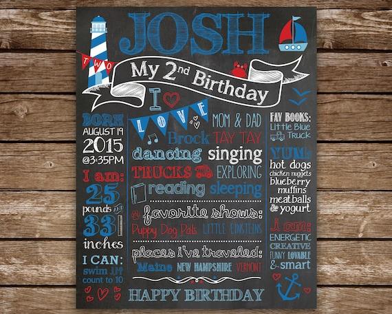 Nautical Birthday Chalkboard 2nd