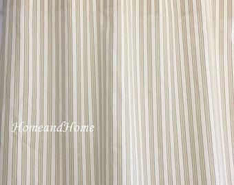Summer SALE Stripe shower curtain shower curtains Tan Brown Ivory 72 x 84 108 extra wide shower curtain long shower curtain custom sho