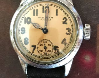 Waltham 1943 WWII O.R.D. Issued Original US Issued Military Watch