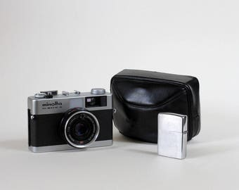 SALE Vintage MINOLTA Himatic G 24 * 36 Japan, compact 1974 film camera, 2.8 / 38mm mid century collection E F