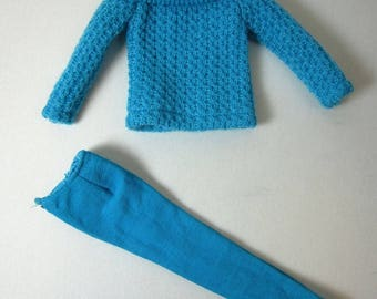 1965 Skipper *TURQUOISE SWEATER* #1915 Outdoor Casuals Outfit -Vintage Barbie